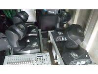 4 x Martin Professional MiniMac Wash & Twin Flight Cases