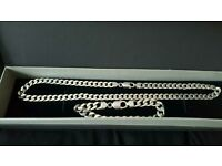 Silver chain and bracelet