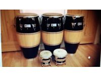 LATIN PERCUSSION CUSTOMIZED SET [ 5 PIECES ] AND BONGOS STAND