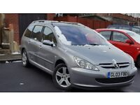 2003 Peugeot 307 estate 2.0l diesel, MOT'd, service history and ready to go
