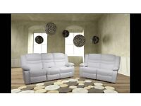 Venis White Recliner Cupholder 3+2 Sofa Set Free Mainland UK Delivery & Free Assembly in your Home