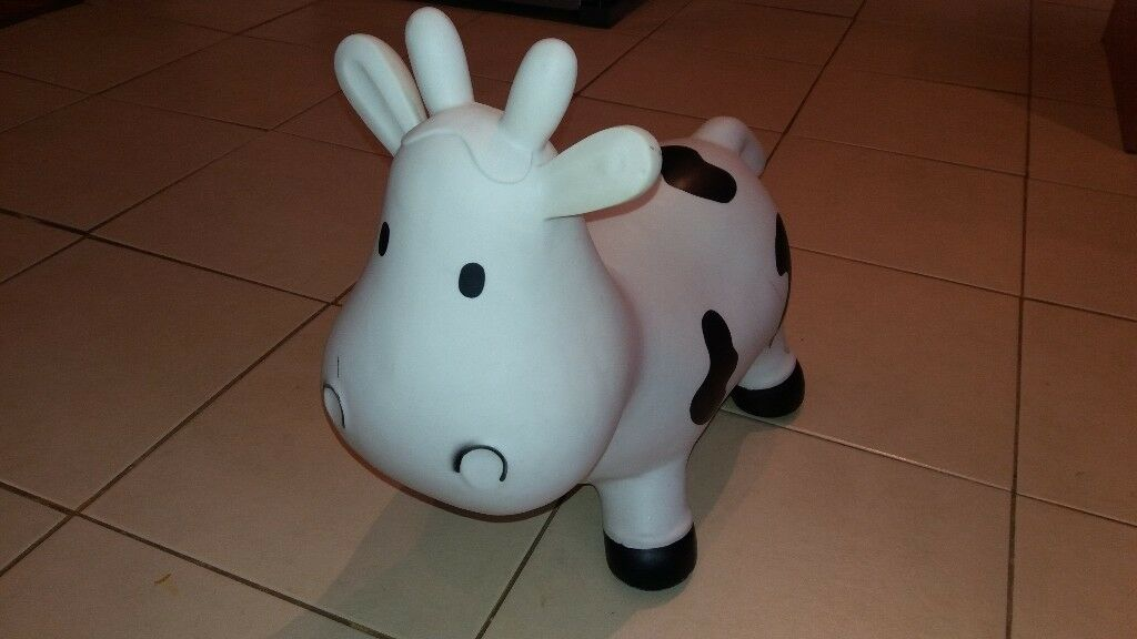 Bouncy cow kid's toy