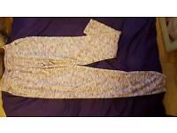 Purple light tracksuit bottoms, size 6