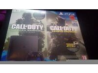 BRAND NEW UNOPED PS4 with THE 2 NEW CALL OF DUTY