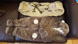 baby bag and infant's onesie