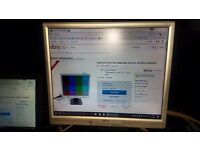 Acer AL1917 Abm Square LCD monitor 19 inch with VGA & power lead plus speakers for PC computer