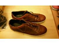 Dune brown leather shoes