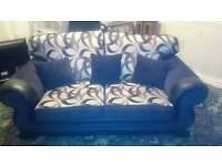 Excellent condition 2 seater black fabric sofa