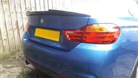 BMW 4 Series Coupe V Style Carbon Fibre Rear Spoiler - 100% OEM Fit