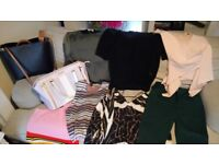 River Island clothes bundle and two handbags