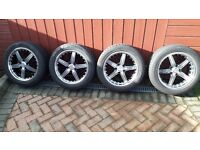 "Set of 17"" Mazda 6 wheels and tyres"