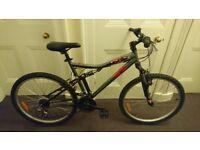 B'twin Rockrider 6.0 full suspension mountain bike