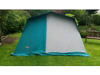 Large canvas frame tent by Trigano.
