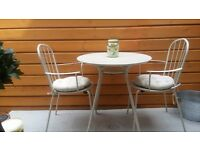 Bistro set and seat cushions