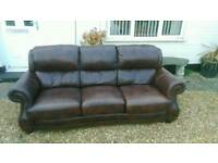 Reduce price.. brown leather sofa