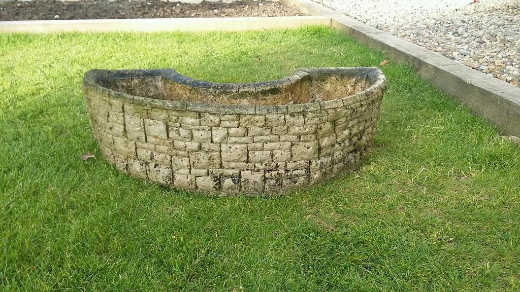 Stone Effect Semi Circle Concrete Planter In Hull East Yorkshire