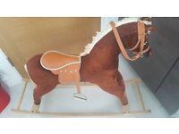 """30"""" High Palomino Rocking Horse"""