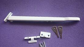 Concealed Window Stay Locking Lock Handle Bar White