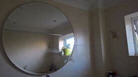 large round art deco mirror for sale