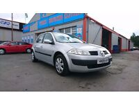 Renault Megane 1.6, 5 door, only 85,600 miles. We are open 7 days, Part ex welcome on all cars.