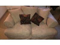 2 X sofas machine washable covers + cushions