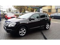Nissan Qashqai N-Tec 1.6 petrol, Black, 1 owner, 5 seats and FSH at the dealer.