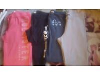 Joggers Hollister and River Island 4 pairs x small size 6