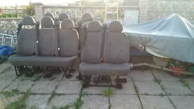 FORD TRANSIT MINI BUS SEATS, DOUBLE'S, TRIBLE, SINGLES WITH SEAT BELT