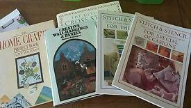 6 x stencil home craft books