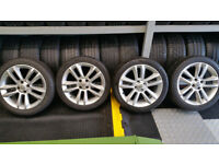 Vauxhall Genuine 17 alloy wheels +4 x tyres 215 45 17