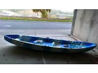 2 person used sit on top fishing kayak, with 2 storage pods