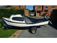 12' fishing boat with honda 5hp outboard