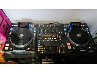 Pair of Denon DN-S3700 and behringer DDM4000 Mixer