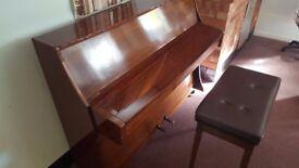 SALK Piano & Stool For Sale