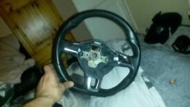 Flat bottom VW steering wheel