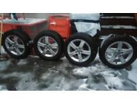 "Audi Alloys 16"" + Winter Tyres Continental TS830. 205 55 16"