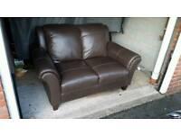 DFS Peyton Leather 2 Seater Sofa (ex-display)