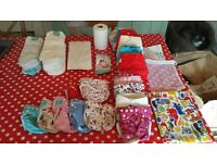 Mostly new, never used bundle of reusable nappies - full kit