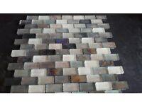 Glitter mosaic tiles