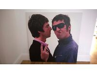 Large Oasis Canvas - Liam and Noel Gallagher Canvas - 76 x 76cm