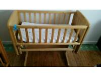 Gliding baby crib from Mothercare