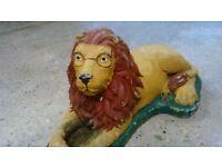 Stone garden lion