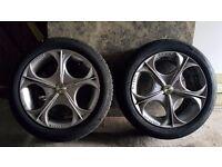 15 inch WOLFRACE CLASSIC MATRIX alloys