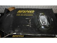 RIPSPEED CAR SPEAKERS (NEW) + CAR CD PLAYER