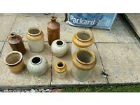 Old bottles and vases