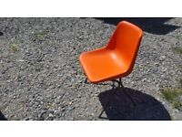 2nd hand orange stacking chair - 35 in total - good condition - then they are gone they're gone