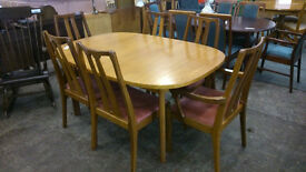 NATHAN extendable dining table with 6 chairs (delivery available)