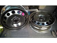 Two Steel Wheels 6Jx16 New!