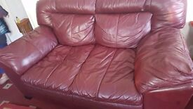 Red sofa set mint condition bought from DFS for £1500