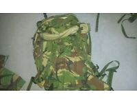 large camo backpack excelent for camping .